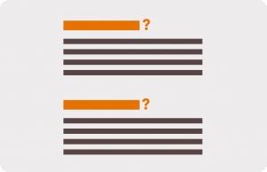 FAQ-style headings